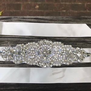 Gorgeous beaded bridal sash
